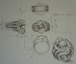Belavier Jewelry ring design sketch