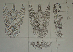Belavier Jewelry pendant design sketch