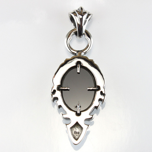 Sterling silver pendant with black star sapphire aloadofball Choice Image